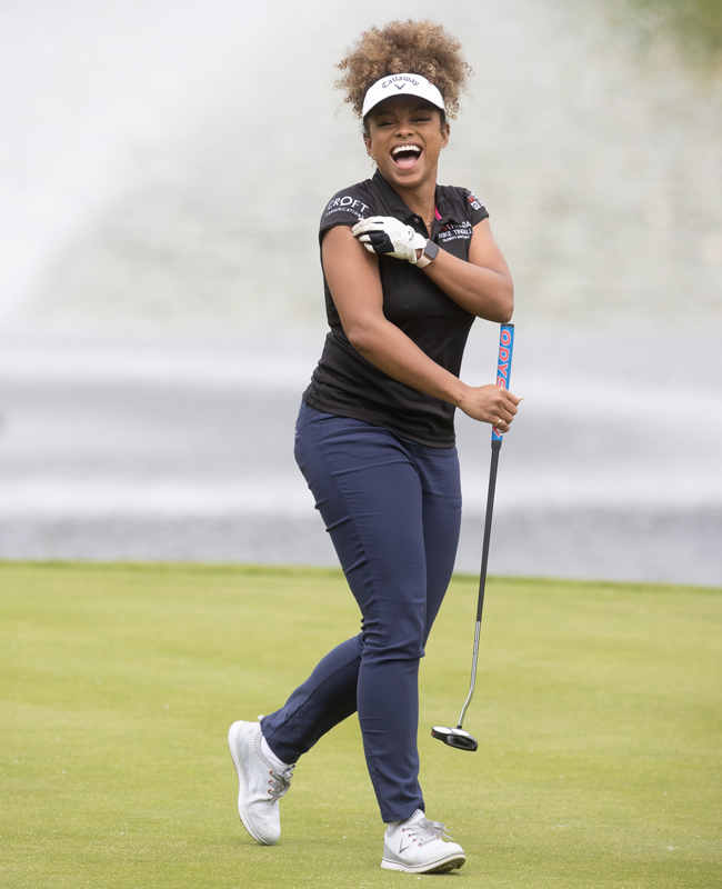 Fleur East at the ISPS Handa Mike Tindall Celebrity Golf Classic 2021