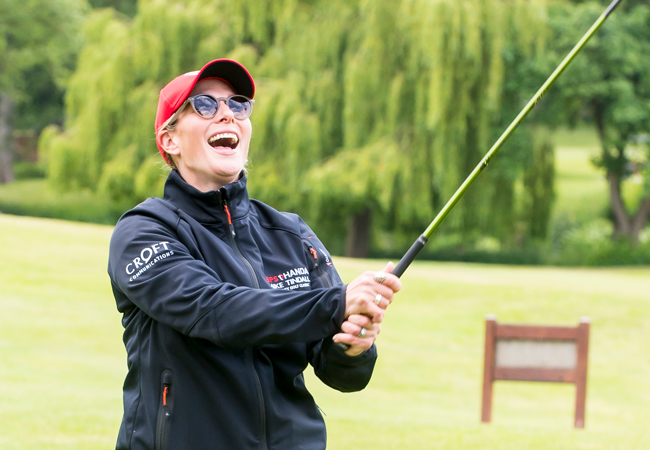 Zara Phillips at the ISPS Handa Mike Tindall Celebrity Golf Classic 2021